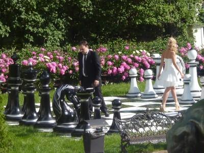 Стеклопластиковые шахматы 155 см