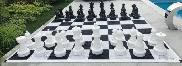 Шахматы с пластмассовым полем