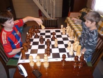 Поле шахматное виниловое 90х90 см