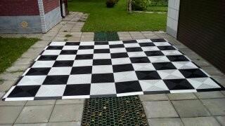 Шахматная доска с обрамлением 3.3х3.3м