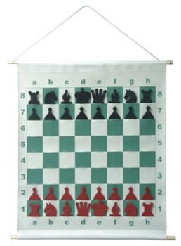 Шахматы 0.7х.0.7м демонстрационные настенные магнитные