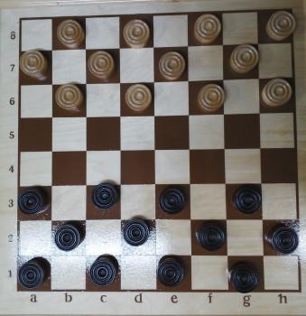 Набор шашек 6 см деревянных лаковых