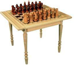 Шахматный стол с шахматами СБ-89