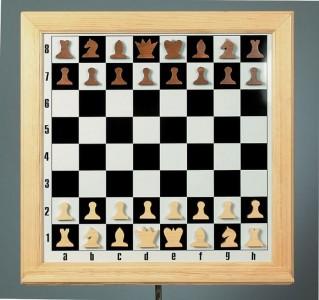 Демонстрационные шахматы 80х80 см деревянные
