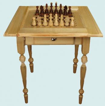 Шахматный стол  с фигурами 7ЗХ73