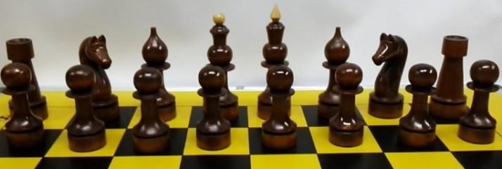 Деревянные лаковые шахматы 20см(ДШ-8)