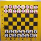 шахматы 1х1м магнитные настенные