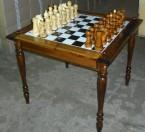 Стол шахматный двусторонний со стеклом